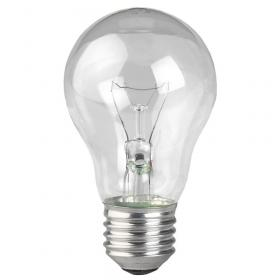 Лампа накаливания ЭРА E27 75W 2700K прозрачная ЛОН А55/А50-75-230-E27-CL