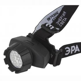 Налобный светодиодный фонарь ЭРА от батареек 165 лм GB-605