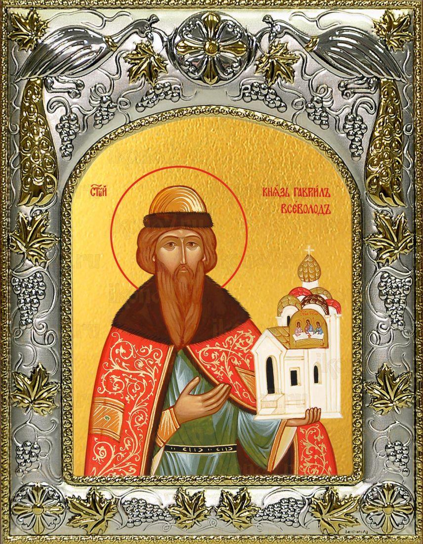 Икона Всеволод Псковский святой (14х18)