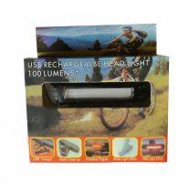 Ходовая велосипедная фара USB Rechargeable Head Light 100 Lumens+, белый