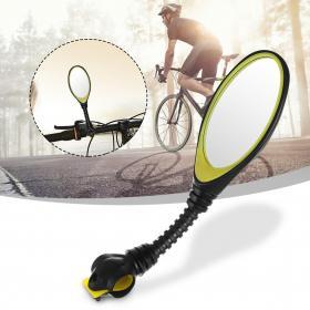 Велосипедное зеркало заднего вида с гнущимся креплением