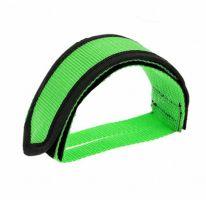 Ремешки (туклипсы) для велосипедных педалей, 2 шт, зелёный