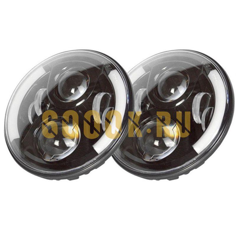 Светодиодные фары головного света 7 дюймов 140Вт с боковыми ДХО  и поворотниками