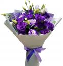 Букет из фиолетовых французских роз
