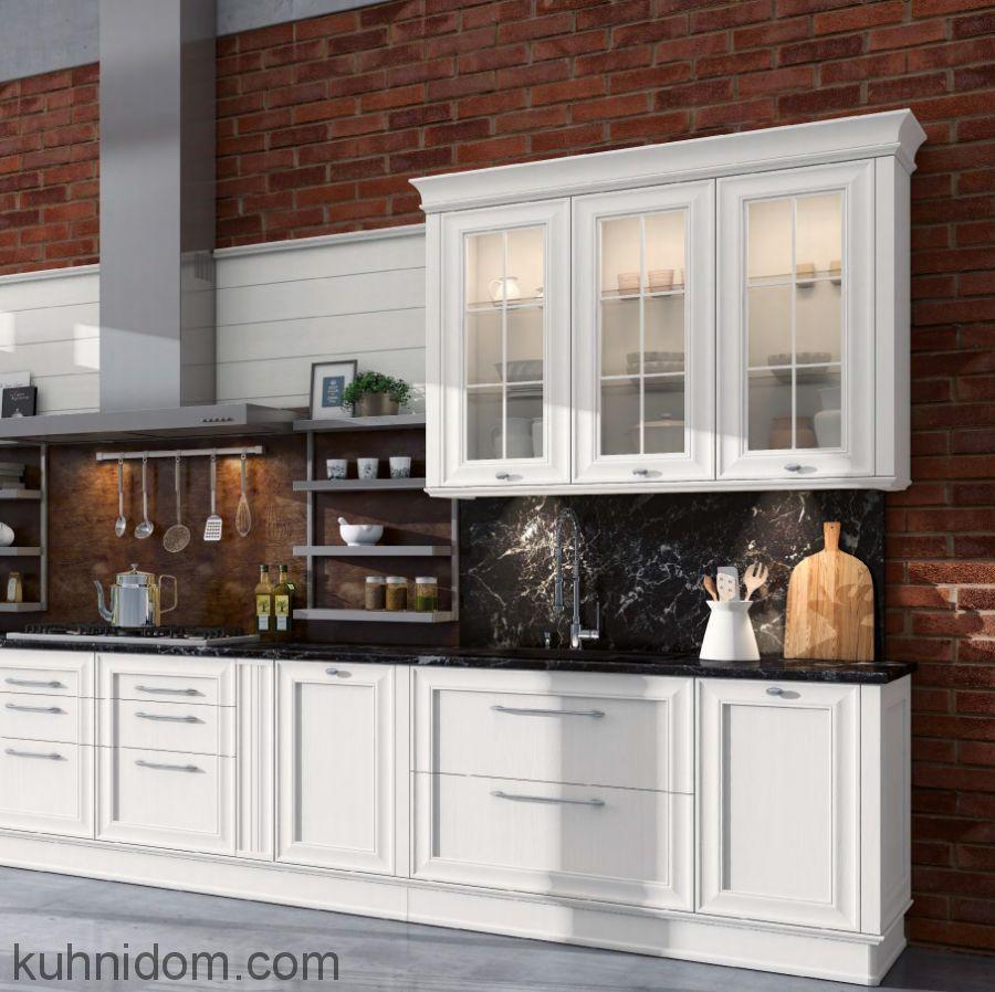 Кухня Комо с витриной