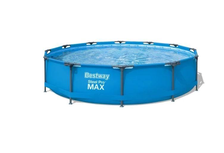 Бассейн Bestway Steel Pro MAX 56416 (366x76 см) (в комплекте: водяной насос, картриджный фильтр)