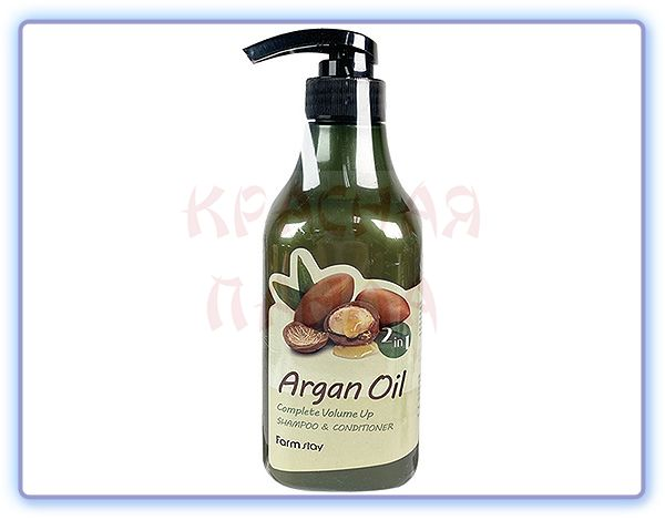 Шампунь-кондиционер для волос FarmStay Argan Oil Complete Volume Up Shampoo & Conditioner