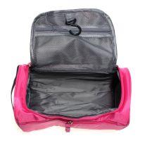 Косметичка-органайзер для хранения гигиенических предметов, тёмно-розовый