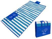 Пляжный коврик с ручками для переноски, 150х170 см., синий
