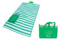 Пляжный коврик с ручками для переноски, 120х170 см., зелёный