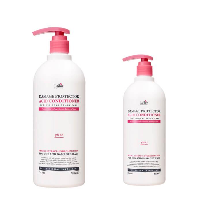 Слабощелочной кондиционер с протеинами шелка  La'dor Damaged Protector Acid Conditioner