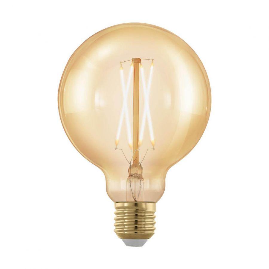 Лампа светодиодная филаментная диммируемая Eglo E27 4W 1700К золотая 11693