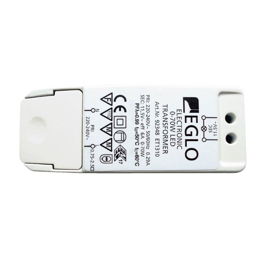 Трансформатор диммируемый Eglo Electronic 11,5V 70W IP20 6A 92348