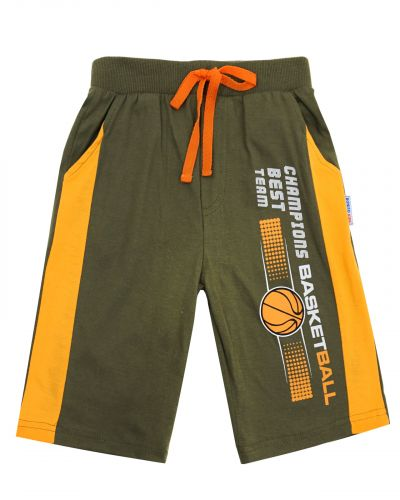 "Шорты для мальчика 5-8 лет BONITO ""Basketball"" хаки"