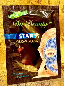 МЕРЦАЮЩАЯ Маска для лица Do Beauty Star Glow Mask Moisture Hydration,голубая ,18 гр