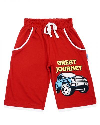 """Шорты для мальчика 3-7 лет BONITO """"Great journey"""" красные"""