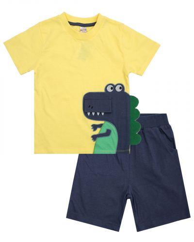 """Костюм для мальчика 1-4 лет Bonito OP498 """"Dino"""" желтый"""