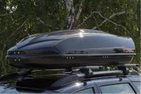 Автомобильный бокс на крышу Avatar EURO, 460 литров, черный глянец, двусторонний