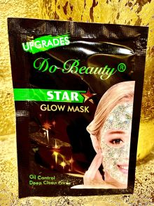 МЕРЦАЮЩАЯ Маска для лица Do Beauty Star Glow Mask Oil Control зеленая ,18 гр