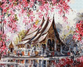 Картина по номерам «Весенний Тайланд» 40x50 см