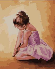 Картина по номерам «Балерина малышка» 40x50 см