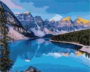 Картина по номерам «Горная река» 40x50 см