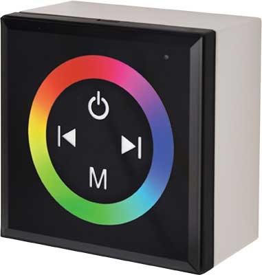 RGB контроллер настенный черный с кольцевым сенсором CPB12AESB 12V/24V 12A