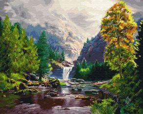 Картина по номерам «Осень в горах» 40x50 см