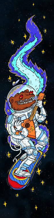 Шкурка Комета Космо-Медведь Синий