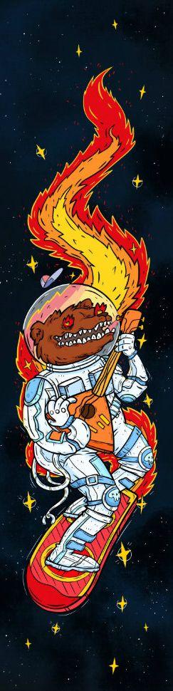 Шкурка Комета Космо-Медведь Красный