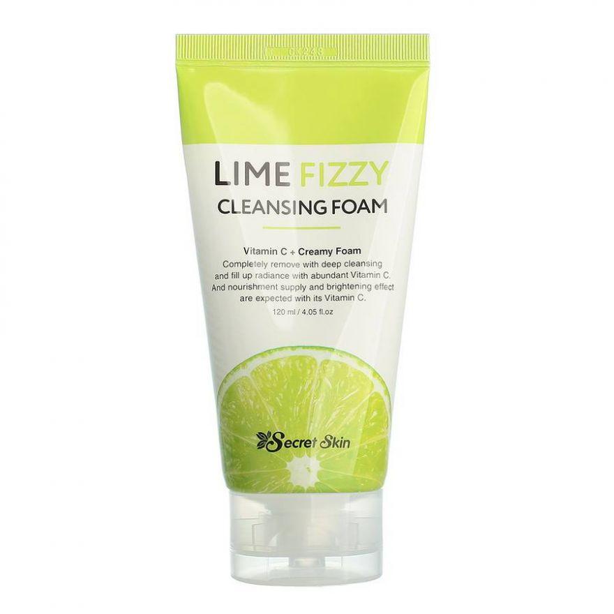 Нежная пенка для умывания лица с экстрактом лайма Secret Skin Lime Fizzy Cleansing Foam