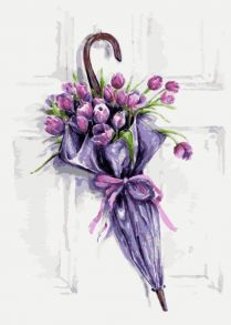 Картина по номерам «Цветочный зонт» 30x40 см