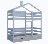 Кровать двухъярусная Домик Roof №4 (двухъярусная кровать домик)