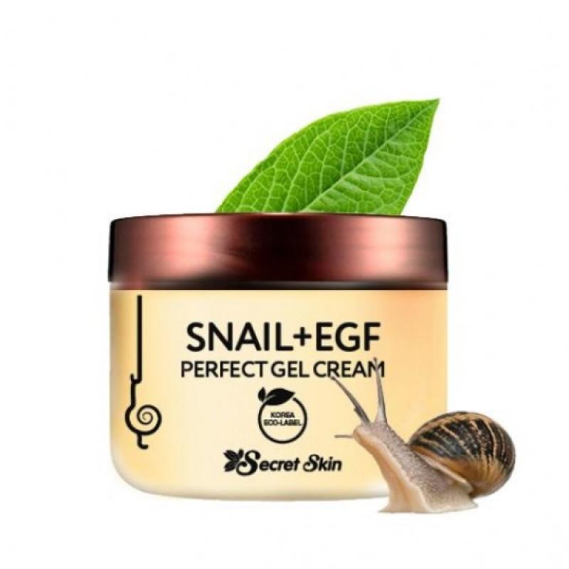 Гелевый крем для лица с экстрактом улитки и фактором роста EGF Secret Skin Snail+EGF Perfect Gel Cream