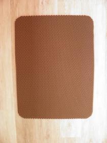 Универсальный экоковрик с ячейками, 65х70 см., коричневый