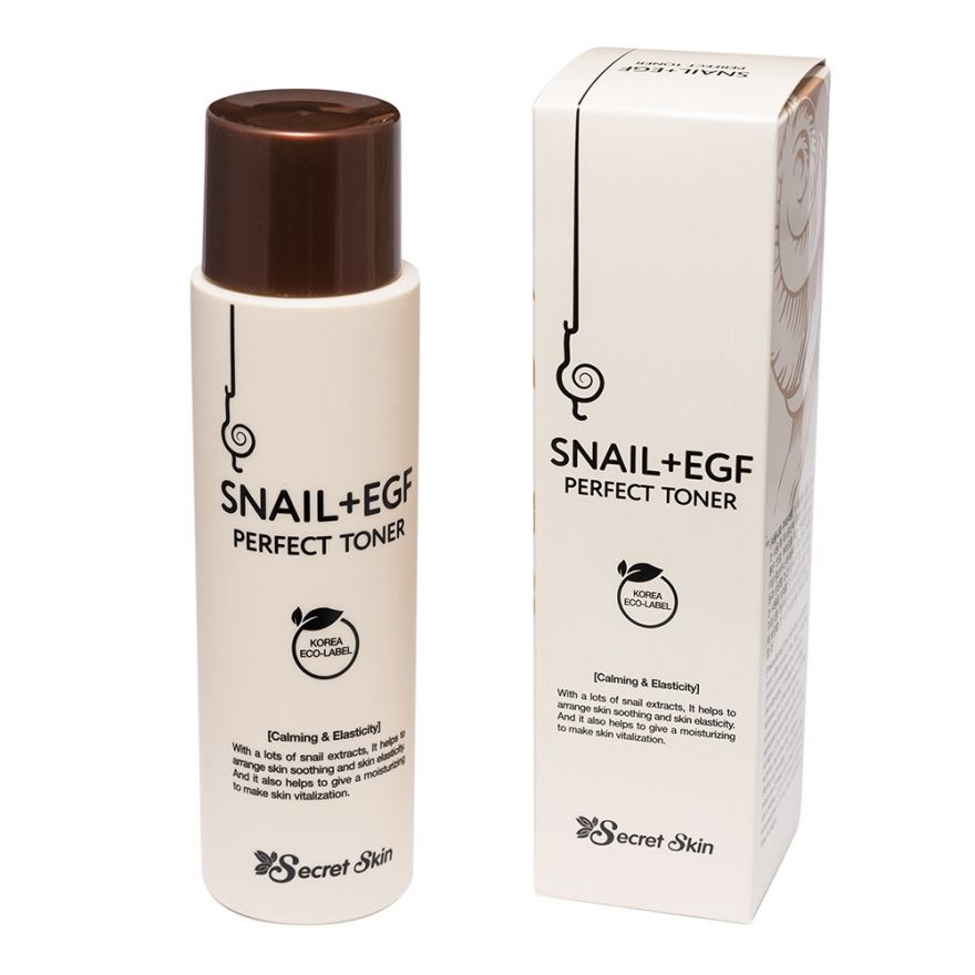Антивозрастной тонер для лица с экстрактом улитки и фактором роста EGF Secret Skin Snail+EGF Perfect Toner
