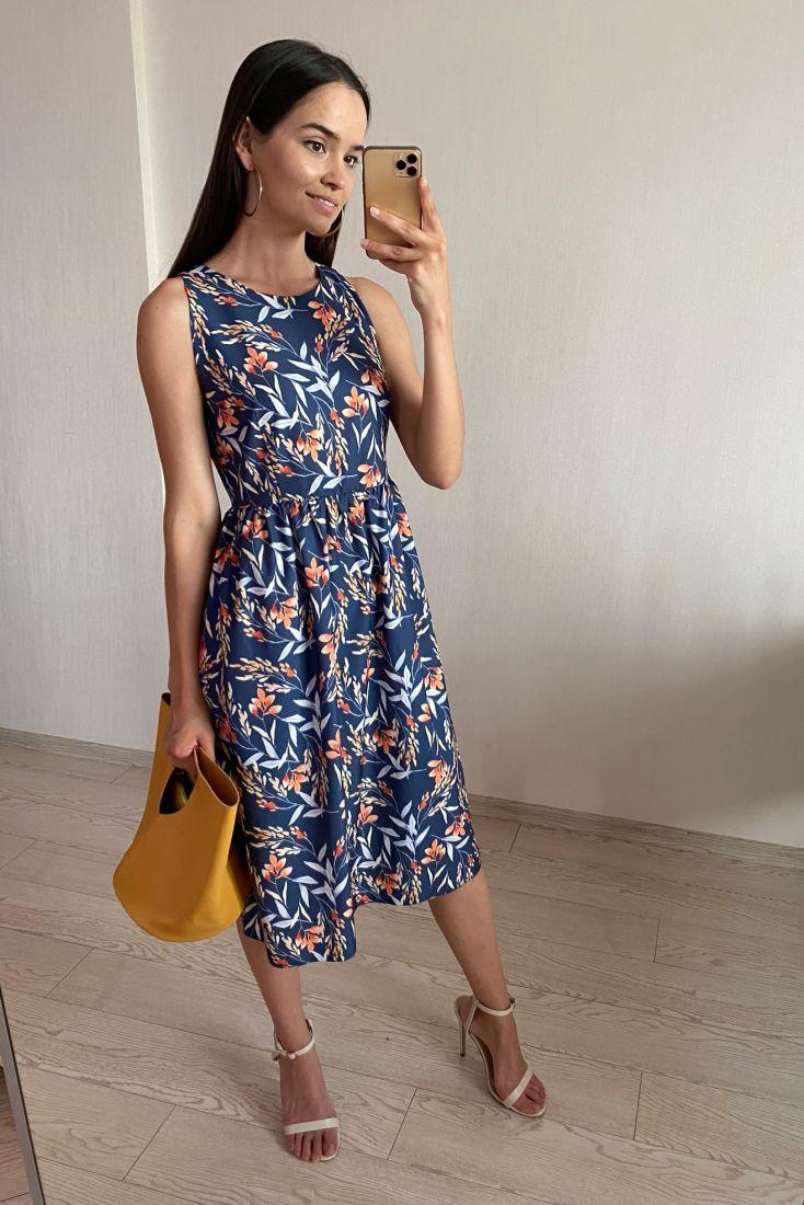 s1843 Платье с американской проймой