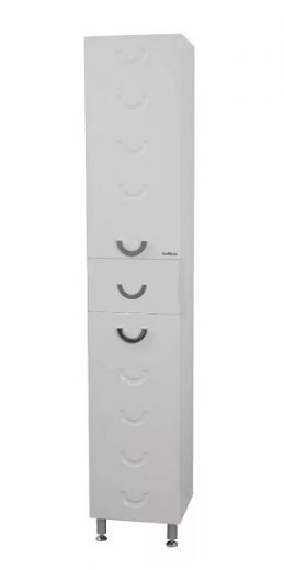 Пенал напольный Вальбург 35с корзиной.(белый)левый