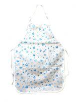 Универсальный непромокаемый фартук ПВХ, 76х55 см., голубые сердечки