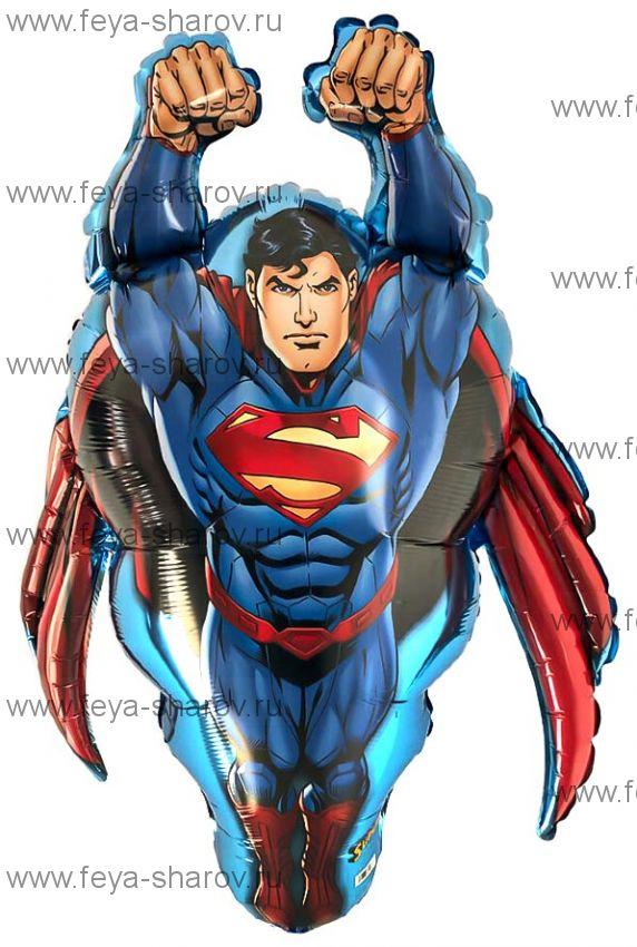 Шар Супермен 58х86 см