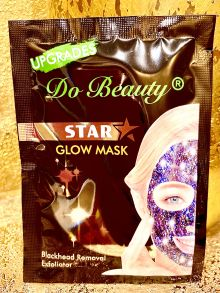 МЕРЦАЮЩАЯ Маска для лица Do Beauty Star Glow Mask Blackhead Removal Exfoliator ,черная ,18 гр