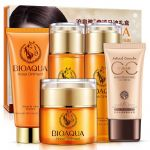Набор косметических средств по уходу за кожей лица на основе лошадиного масла (5 средств) Bioaqua
