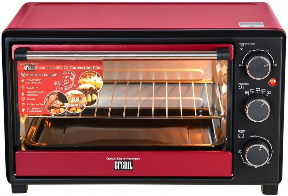 Мини-печь GFGRIL GFO-23 CONVECTION PLUS