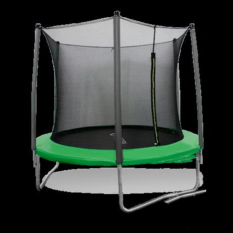 Складной батут с сеткой DFC JUMP 10ft green
