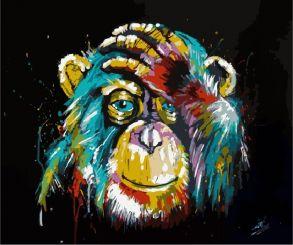 Картина по номерам «Радужная обезьяна» 40x50 см
