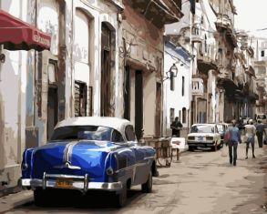 Картина по номерам «Старая Гавана» 40x50 см
