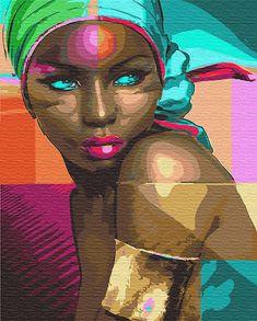 Картина по номерам «Африканка» 40x50 см