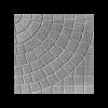 Плитка тротуарная Колодец (серая), 400х400х50 мм