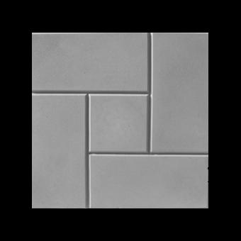 Плитка тротуарная Калифорния (серая), 300х300х30 мм
