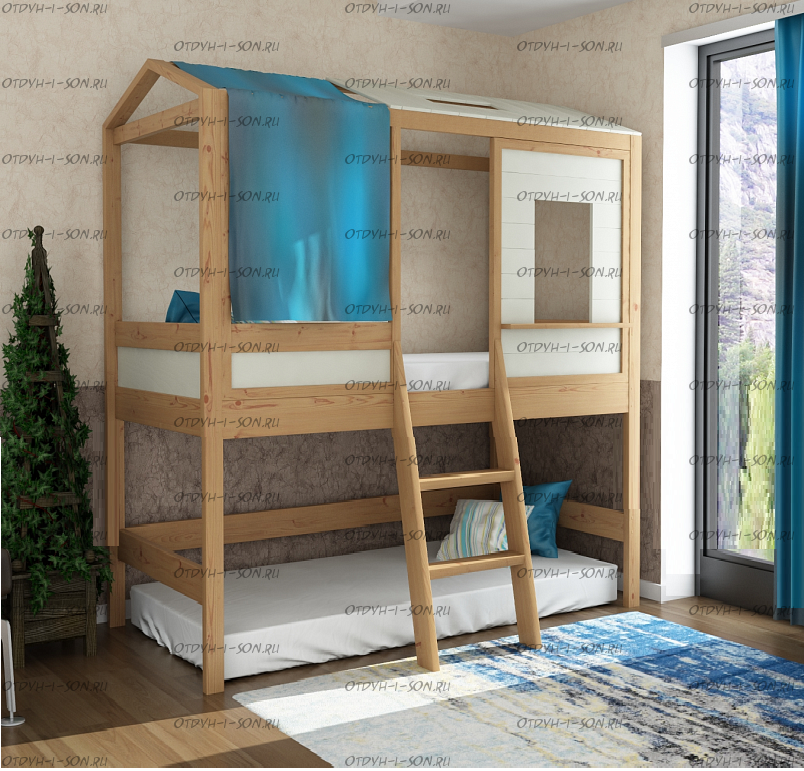 Кровать двухъярусная Домик Standard-IR №5, различные цвета и размеры
